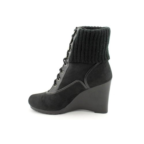 Black Closed Ellen Boots Toe Ankle Tracy Fashion Cosy Womens qtrw80vt