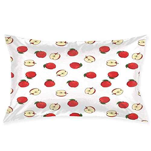Jingailicenseco Pillow Sham,Hand Drawn Vibrant Fruit Slices Products of Summer Harvest Picnic Themed Nature,Decorative Standard Queen Size Printed Pillowcase 30 X 20 Inches,Pillow Cushion Cover ()