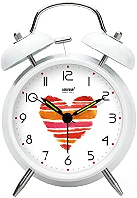 Reloj Despertador Relojes Decorativos Reloj Mecánico De La Cama Original Amor Blanco