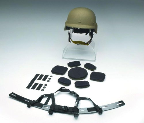 Oregon Aero® BLSS® Kit (Ballistic Helmet Liner & Suspension System) for the PASGT Helmet (Coyote Brown, (XS)(S)(M)(L))