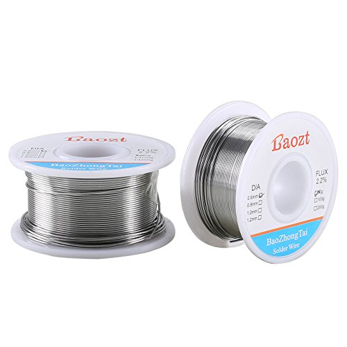 Manyee 0 6Mm Soldering Wire Rosin Core Solder Electrical Solder Tin 60 40 Lead Solder Wire 2 2  Flux Core Solder Lower Melting Point Ag0 6 Cu0 4 Silver Solder Rosin Core 0 24Lbs