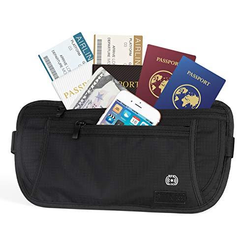 Money Belt - RFID Blocking Hidden Travel Wallet Well Designed & Comfortable Money Carrier For Travelling (Black)