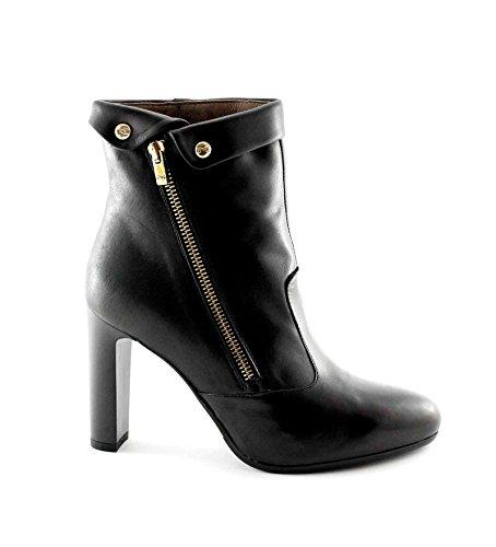 Black Giardini Cuero Botines Negro Jardines Mujer de Nero de Tac Botas 16363 con Cremallera p5WwxdZ