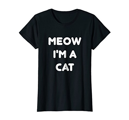 Womens Meow Cat Halloween Costume Shirt XL -