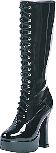 5 Inch Heel Knee Boots Women'S Size Shoe With Zipper (Black;14)