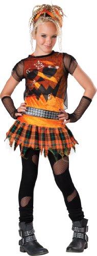 InCharacter CostumesTween Punk'n Pumkin Costume, Orange/Black, Medium/10-12 ()