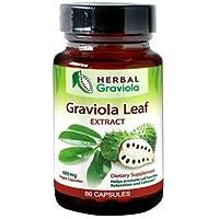 Cápsulas de extracto de hojas de Graviola (Soursop), no OMG, certificado orgánico USDA, regeneración de células, alivio del estrés, ayuda digestiva, suplemento energético, por Herbal Goodness, cápsulas vegetarianas de 600 mg