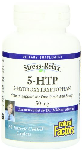 Natural Factors Stress-Relax 5-HTP capsules de 50 mg, 60-Count