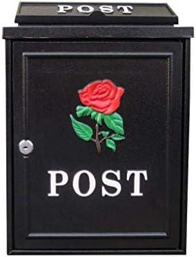 ZXPzZ-メールボックス 外郵便受け耐候性、亜鉛メッキスチールメールボックスエレガンスウォールは、ロック可能な耐候ポストボックスをマウント -メール収集