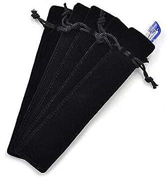 10 x Estuche de lápices con cordón plastificado para bolígrafos, bolígrafos, bolígrafos, bolsa de terciopelo, color sólido, bolsa de regalo: Amazon.es: Bricolaje y herramientas