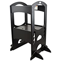 Learning Tower Kids Adjustable Height Kitchen Step Stool with Safety Rail (Eb...