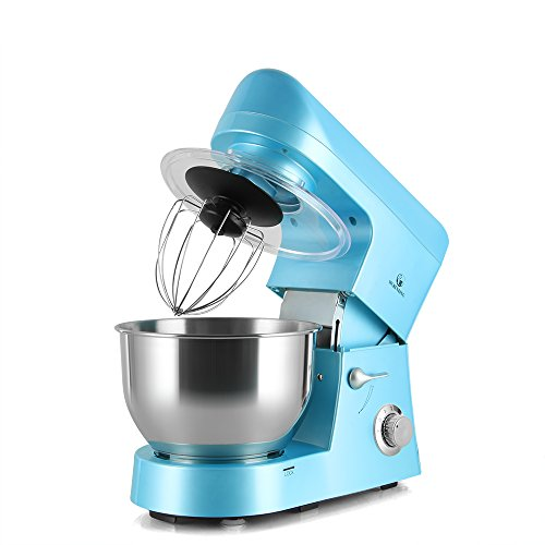 MURENKING Stand Mixer SM168 650W 5-Qt 6-Speed Tilt-Head Kitchen Electric Food Mixer with Accessories (Sky Blue) … Review