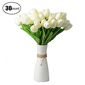 Zebery® 30 pcs Real-Touch Artificial Tulip Flowers Home Wedding Party Decor 2