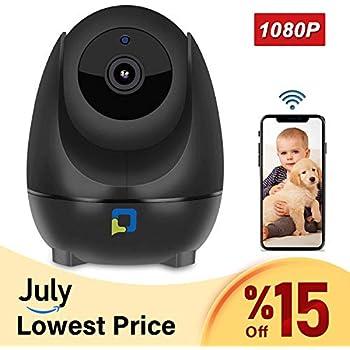 OPTJOY Wireless Security Camera, 1080P WiFi IP Camera, Pan/Tilt/Zoom Home  Indoor Surveillance Camera Auto Night Vision, Motion Tracker, Two-Way  Audio,
