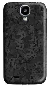 Black Stars Custom Samsung Galaxy I9500/Samsung Galaxy S4 Case Cover Polycarbonate 3D