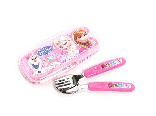 Frozen Children Kid Spoon Fork Set with Case 042493