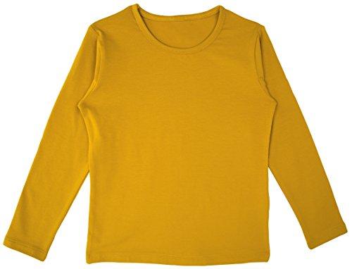 Lovetti Girls' Basic Long Sleeve Round Neck T-Shirt 8 Mustard (Shirt Mustard Girl)