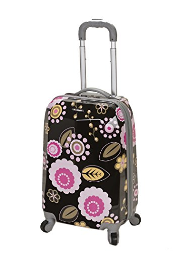 Cheap Rockland Luggage 20 Inch Polycarbonate Carry On Luggage, Pucci, One Size