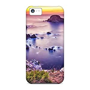 Durable Sea And Beach With Stones Back Cases/covers For Iphone 5c