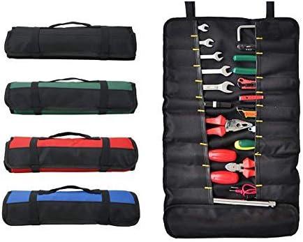 Bolsa enrollable de herramientas con 38 bolsillos, bolsas de herramientas plegables, bolsa de almacenamiento de herramientas, rollo de destornillador, rollo para uso al aire libre, verde: Amazon.es: Bricolaje y herramientas