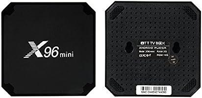 zantec x96 Mini Android TV Box 7.1, Amlogic s905 W Quad Core Soporte H.265 UHD 4 K 2,4 GHz WiFi x96mini Set Top Box: Amazon.es: Electrónica