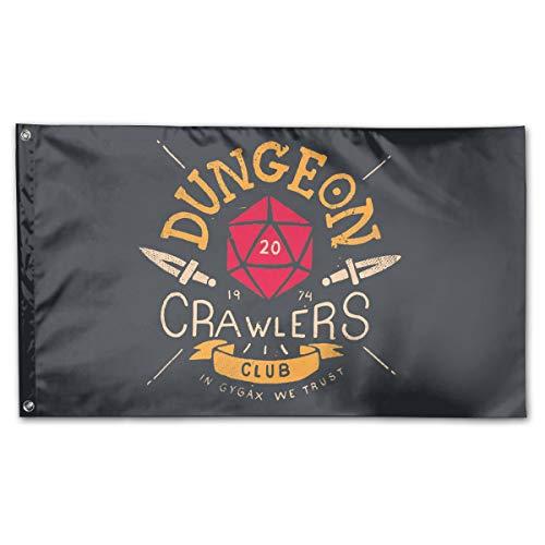 Dungeon Crawlers Club Garden Flag Celebration Holiday Flag Military Flag3 X 5 Ft -