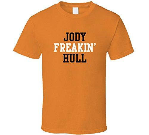 Jody Freakin Hull Philadelphia Hockey Player Sports Fan T Shirt M - Shop Orange Hull