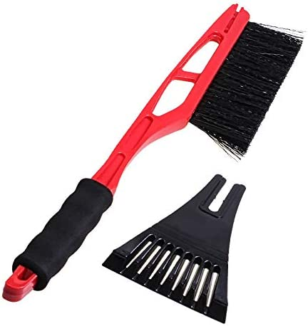 Blue Clearance Sale!DEESEE 2-in-1 Ice Scraper with Brush for Car Windshield Snow Remove Frost Broom Cleaner TM