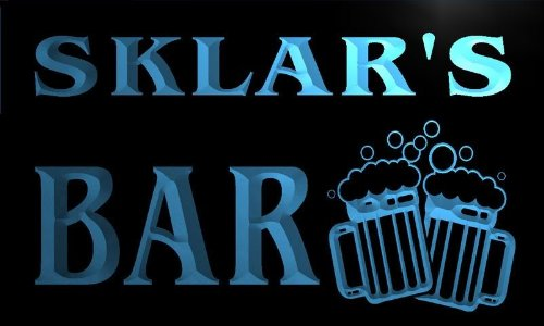 w010951-b SKLAR'S Name Home Bar Pub Beer Mugs Cheers Neon Light Sign