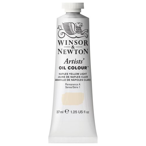 Winsor & Newton Artists Oil Color Paint Tube, 37ml, Naples Yellow Light