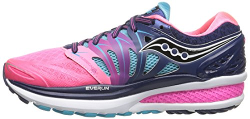 Saucony Women's Hurricane ISO 2 Running Shoe, Blue/Pink, 8 M US by Saucony (Image #3)