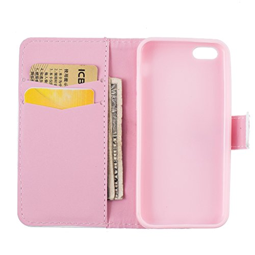 Crisant Case Cover For Apple iPhone 5C,Cerf Sika conception portefeuille magnétique supporter PU cuir de flip protection housse coque étui pour Apple iPhone 5C