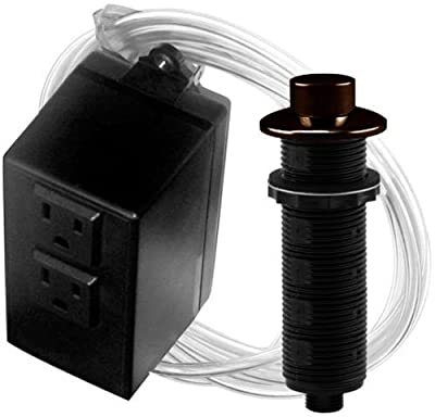 Westbrass ASB-2-RB-12 Garbage Disposal Raised Button Air Switch and Dual Outlet Control Box, Oil Rubbed Bronze