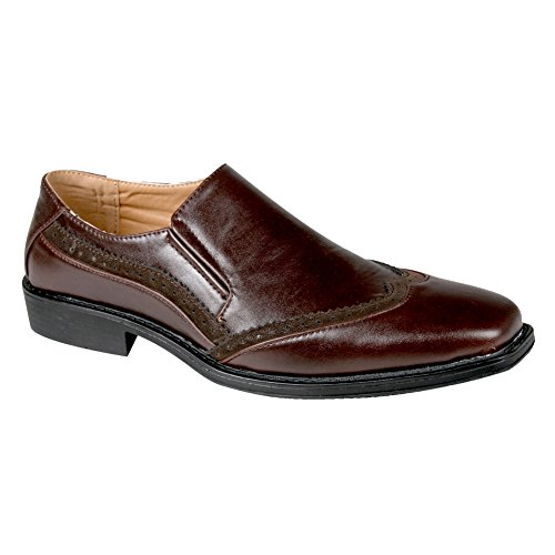 Blancho Carry Uomo Slip-on Da Uomo Marrone Scuro Uomo