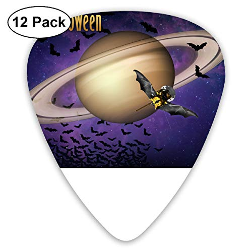 Happy Halloween Bat Planet Guitar Pick 0.46mm 0.73mm 0.96mm 12pack,Suitable for All Kinds of Guitars -