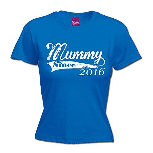 123t Womens Mummy Since 2016 Mum Mother T Shirt Grandma Children Child Kids Granny Year Personalised Baby Babies Birthday Gift Christmas Present FITTED
