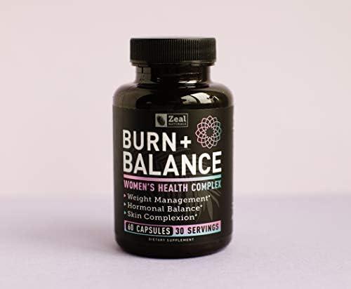 Weight Loss Pills for Women + Daily Balance Vitamins (Iron, Vitamin D, Setria®, Folate,+) Premium Diet Pills for Women + Womens Multivitamin with Iron, D & B Vitamins & Hormone Balance for Women 9