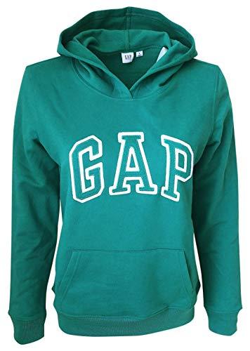 - Gap Womens Fleece Arch Logo Pullover Hoodie (Small, New Green)