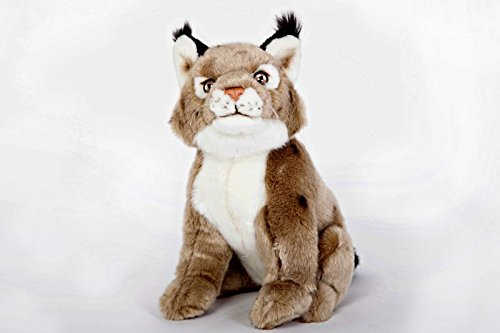 """10"""" Plush Toy Sitting Lynx from Cabin Critters"""