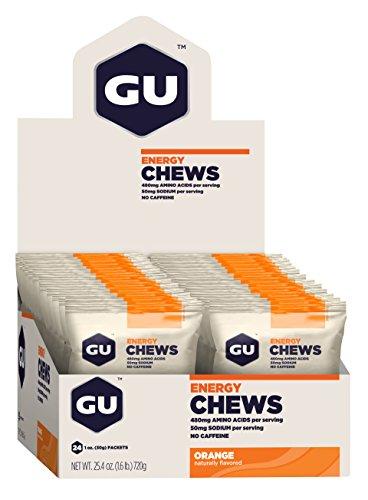 GU Energy Chews, Orange, 24 Count