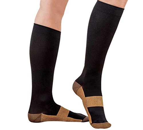 Copper Compression Socks For Men and Women| 15-20mmhg Knee High|