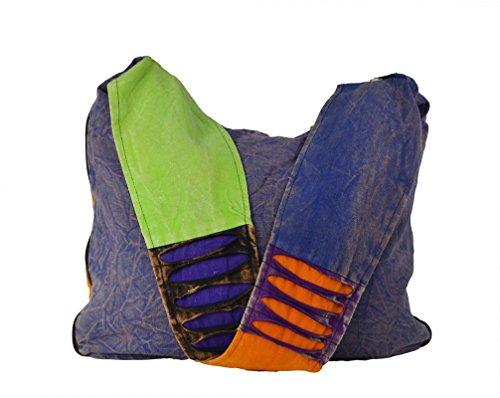 Onorevoli Hippie borsa stile spalla lunga multicolore