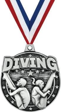 "クラウンAwards Diving Medals – 2 ""シルバーオス/メスDiving Medals Prime"