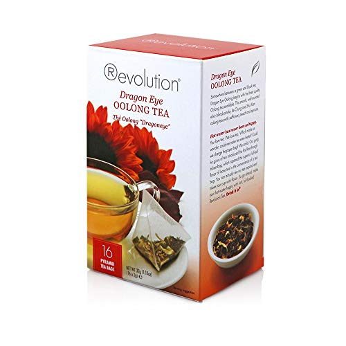 - Revolution Dragon Eye Oolong Tea, 16-Count Tea Bags (Pack of 6)