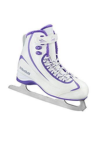 Riedell 625 Soar / Womens Beginner/Soft Figure Ice Skates / Color: White and Violet / Size: 6