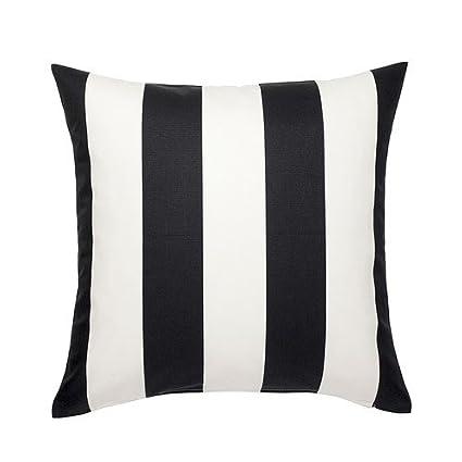 IKEA VARGYLLEN - Funda de cojín, blanco, negro - 50x50 cm ...