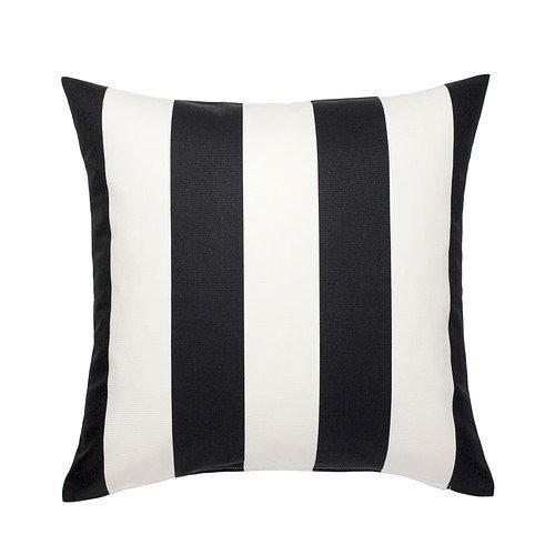 IKEA VARGYLLEN - Funda de cojín, blanco, negro 50 x 50 cm ...