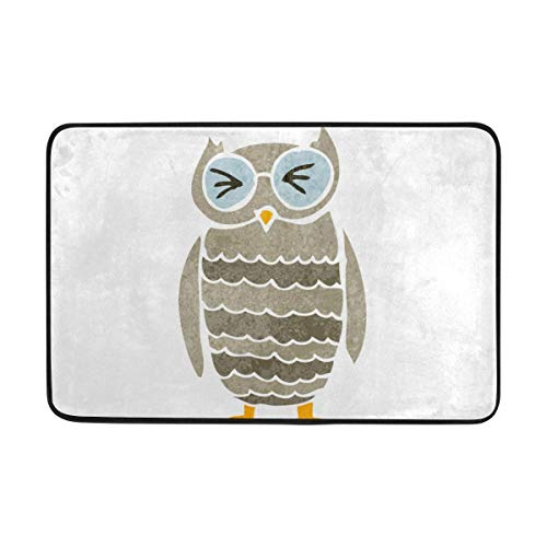 Fantasy Star Play Mat for Kids - Funny Cute Owl Doormat, Living Room Bedroom Kitchen Bathroom Decorative Lightweight Foam Printed Rug - Baby Mats for Playing/Crawling - 3' x 5'