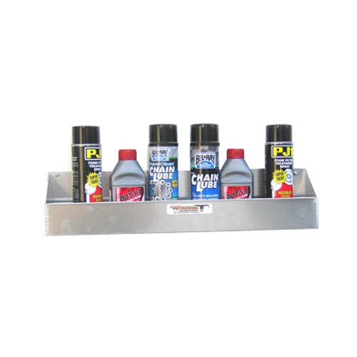 Pit Posse Oil Caddie Caddy Shelf Holder Trailer (Black) - Oil Caddy Set