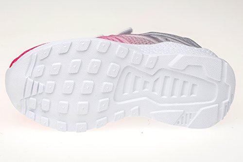 gibra Kinder Sportschuhe Sneaker, Art. 9927, mit Klettverschluss, Sehr Leicht, Grau/Pink, Gr. 25-36 Grau/Pink